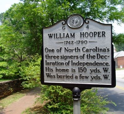 William Hooper, one of the three signers of the Declaration of Independence image. Click for full size.