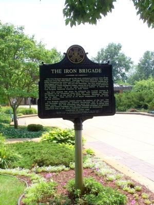 Long shot of the Iron Brigade marker. image. Click for full size.