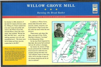 Willow Grove Mill Marker Photo, Click for full size