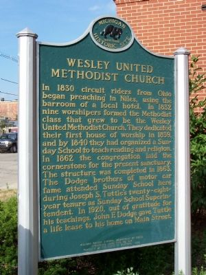Side One of Wesley United Methodist Church image. Click for full size.