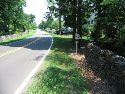Location of the First Carter Hall Marker Beside the Road Photo, Click for full size