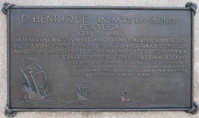 Plaque on Back of Monument is in Portuguese Photo, Click for full size