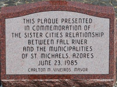 Sister cities plaque Photo, Click for full size
