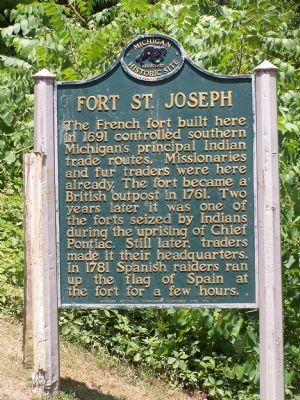 Fort St. Joseph Marker image. Click for full size.