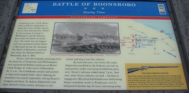 Battle of Boonsboro Marker image. Click for full size.