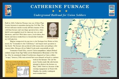 Catherine Furnace Marker Photo, Click for full size