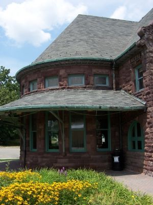 The Michigan Central Railroad Niles Depot image. Click for full size.