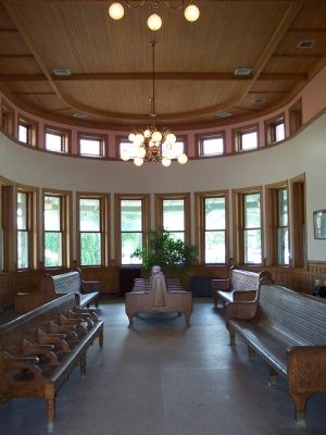 The beautiful interior of the Michigan Central Railroad Niles Depot image. Click for full size.