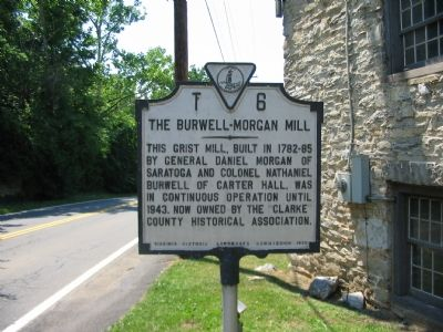 The Burwell-Morgan Mill Marker image. Click for full size.