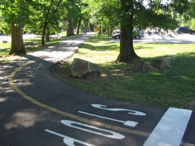 The Marker Beside the W & OD Trail image. Click for full size.
