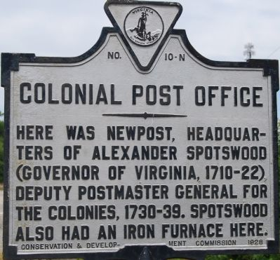 Colonial Post Office Marker image. Click for full size.