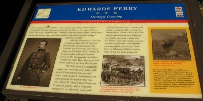 Edward's Ferry Marker Photo, Click for full size