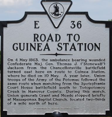 Road to Guinea Station Marker image. Click for full size.