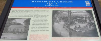 Massaponax Church - Council of War Marker image. Click for full size.
