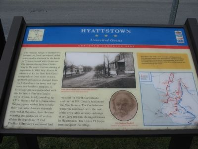 Hyattstown Marker Photo, Click for full size