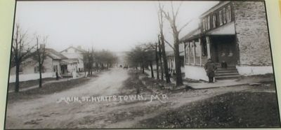 Downtown Hyattstown - 19th Century View Photo, Click for full size