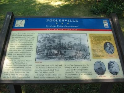 Poolesville Marker image. Click for full size.