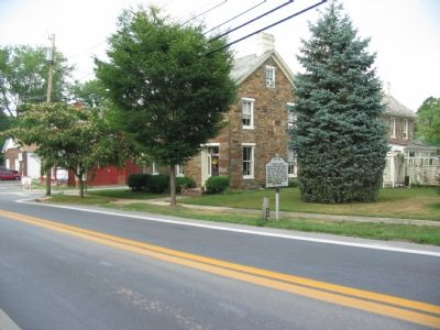 """Carrollton"" Marker aside Buckeystown Pike Photo, Click for full size"