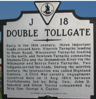 Double Tollgate Marker Photo, Click for full size