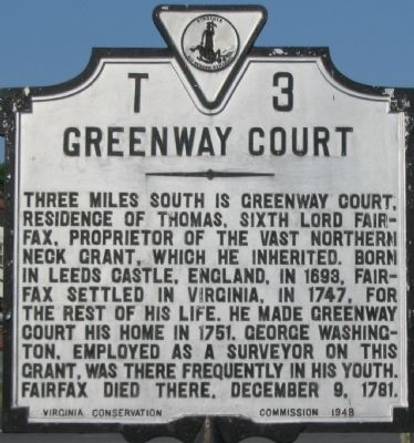 Greenway Court Marker Photo, Click for full size