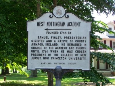 West Nottingham Academy Founded 1744 by Marker Photo, Click for full size