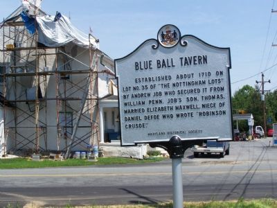 Blue Ball Tavern Marker image. Click for full size.