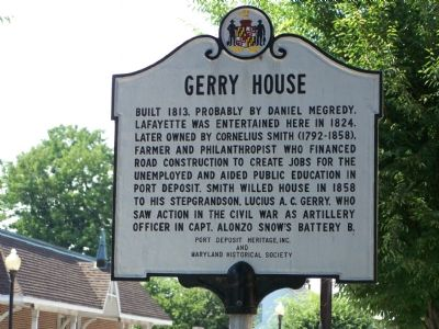 Gerry House Marker image. Click for full size.