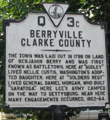 Berryville Clarke County Marker image. Click for full size.