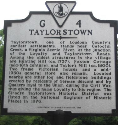 Taylorstown Marker image. Click for full size.
