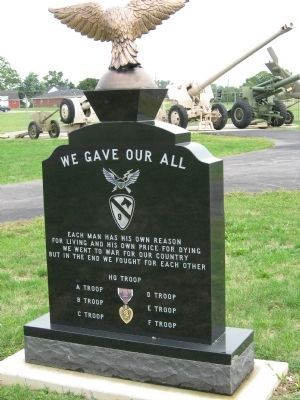 1st Squadron 9th Cavalry Vietnam 1965-1973 Monument (rear) image. Click for full size.