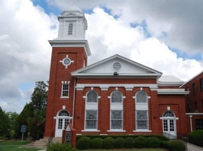 First Baptist Church - South View<br>Marker Can Be Seen Left of the Entrance image. Click for full size.