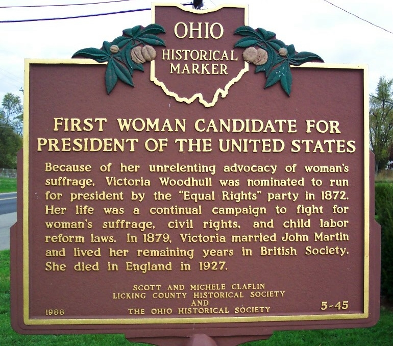 First Woman Candidate for President of the United States Marker