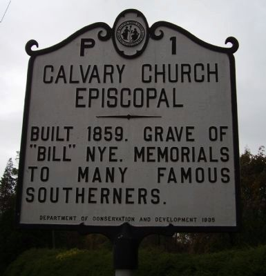Calvary Church Episcopal Marker image. Click for full size.