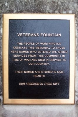 Veterans Fountain Marker image. Click for full size.