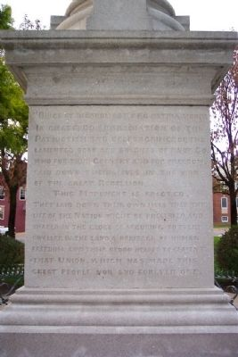Civil War Soldiers Monument (south face) image. Click for full size.
