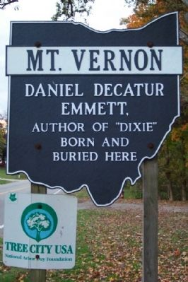 Mt. Vernon Corporation Limit Marker image. Click for full size.