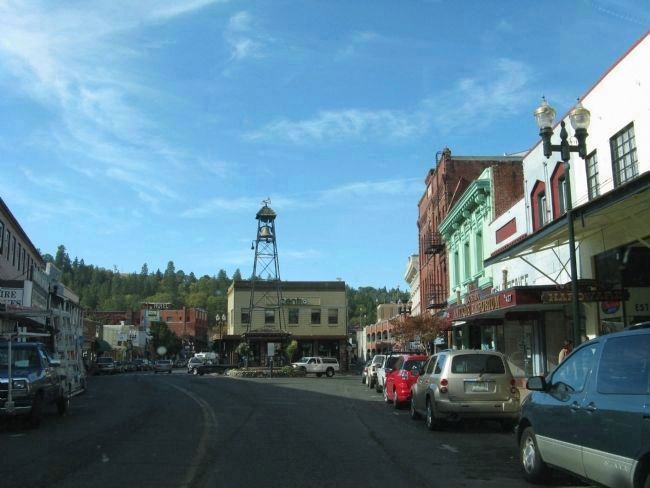 Main Street and the Fire Bell Monument image. Click for full size.