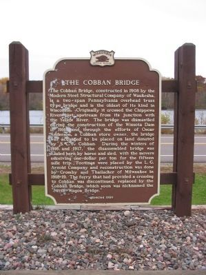 The Cobban Bridge Marker image. Click for full size.
