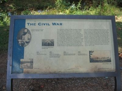 The Civil War Marker image. Click for full size.