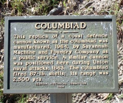 Columbiad Marker image. Click for full size.