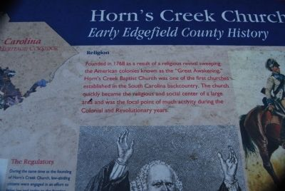 Horn's Creek Church Marker - Religion image. Click for full size.