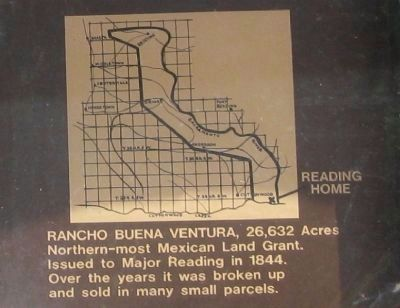 Close-Up of Rancho Buena Ventura Boundary Map image. Click for full size.