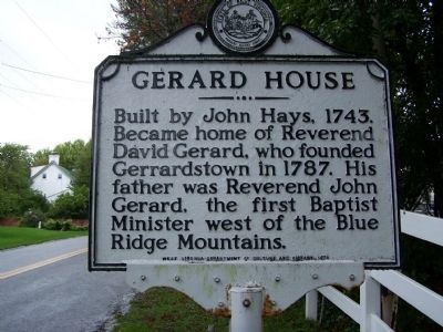 Gerard House Marker image. Click for full size.