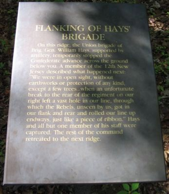 Flanking of Hays' Brigade Marker image. Click for full size.