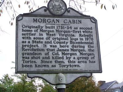 Morgan Cabin Marker Photo, Click for full size
