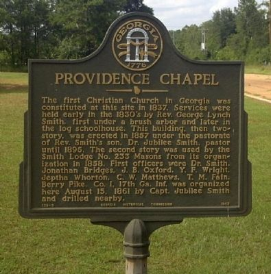 Providence Chapel Marker image. Click for full size.