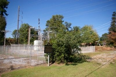 "First ""REA"" Substation in Carroll County Marker and Substation image. Click for full size."
