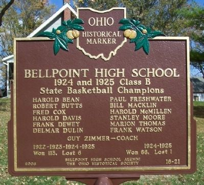 Bellpoint High School Marker (side B) image. Click for full size.
