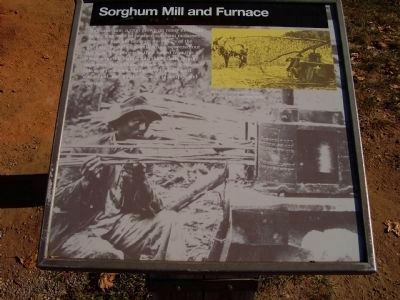 Sorghum Mill and Furnace Marker image. Click for full size.