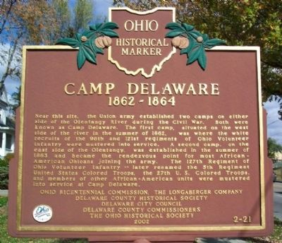 Camp Delaware Marker Photo, Click for full size